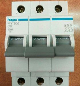 Автоматический выключатель MY306, Хагер