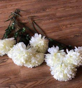 Хризантемы крупные длинный стебель, искусственные