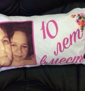 Изготавливаем подушки с фото и надписью