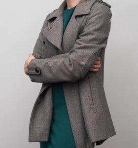 Шерстяное двубортное пальто TOPSHOP