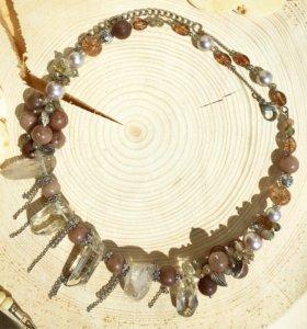 Колье ожерелье ручной работы