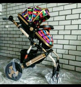 Детская коляска-трансформер Jiaobei 2 в 1