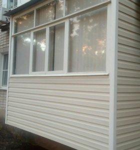 Остекление балконов. Окна пвх