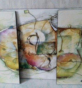 Картина абстракция 3 в 1