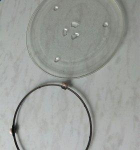 Тарелка и подставка под тарелку для микроволновки