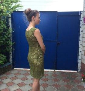 Вязанное вечернее платье