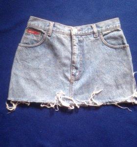 Мини джинсовая юбка