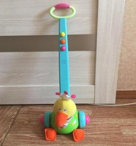 Музыкальная игрушка-каталка утёнок (б/у)