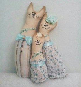Текстильные игрушки ручной работы.