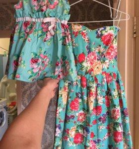 Прокат платьев мама дочь