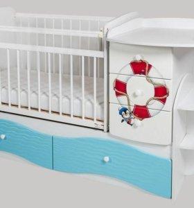 Новый Комплект мебели в детскую Капитан