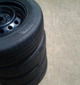 Колёса с летней резиной на штампах R15,5х114,3