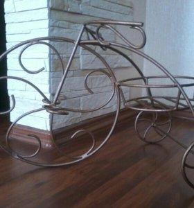 Велосипед кованый (подставка под цветы)