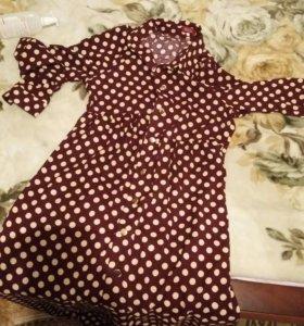 Новое штапельное платье