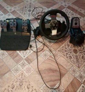 Руль с пидалями и коробкой передач