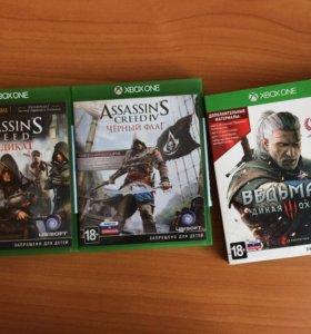 Игры на Xbox one+геймпад