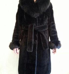 Меховое пальто из овчины р-р 48