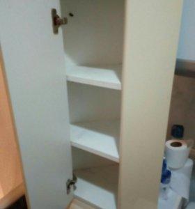 Подвесной угловой шкафчик для ванной комнаты
