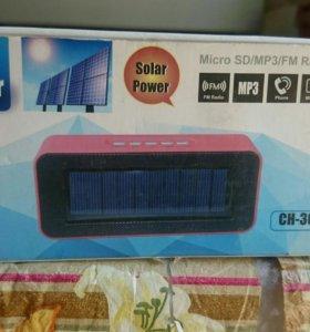 Bluetooth динамик на солнечной батарее