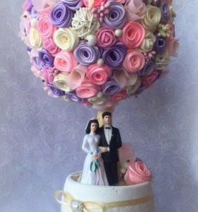 Подарок на свадьбу, дерево счастья, топиарий