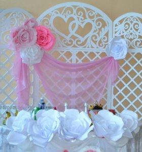 Украшение на свадьбу, праздник, цветы