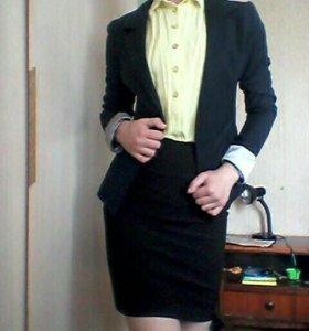 Костюмы юбки блузы.