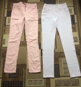 Штаны( светло розовые и белые)