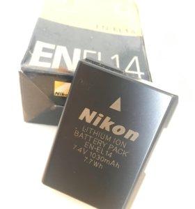 Оригинальный аккумулятор Nikon EN-EL14 D3100 D5200