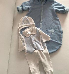 Конверт и костюм на выписку