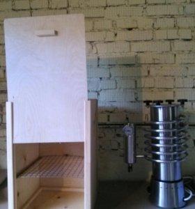 Коптильный шкаф деревянный