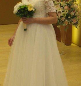 Свадебное платье + балеро.