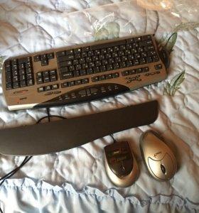 Клавиатура беспроводная в комплекте с мышью