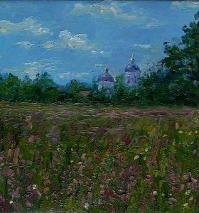 """Картина холст/масло,""""Полевые цветы"""", 20/30"""