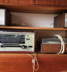 Радиоприёмник+проигрыватель Riga+Комета