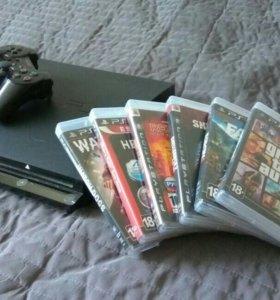 PS3 slim+игры