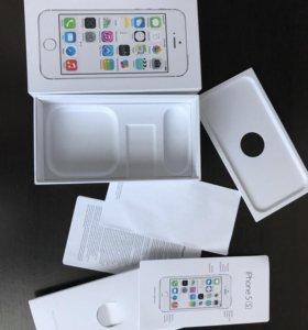 Коробка под iPhone 5 s серебристый