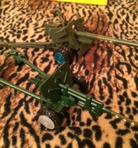 Игрушки СССР пушки противотанковая 100мм. БС-3