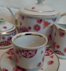 Новый чайный сервиз, фарфор, Италия, 6 персон