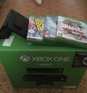 XBOX One 500gb+kinect 2.0 и 3 игры