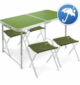 Стол туристический,4 стула новый