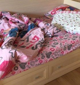 Детская кровать + ортопедический матрас