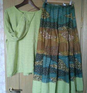 Комплект из юбки и туники