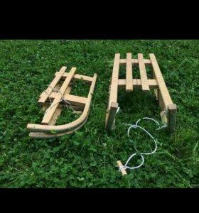 Санки деревянные складные