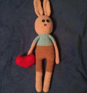 Игрушки ручной работы с сердцем от сердца