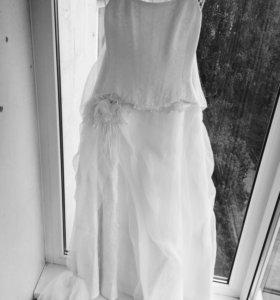 """Свадебное платье (корсет+юбка) """"Версария"""""""