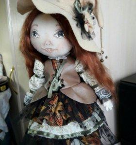 Кукла ручной работы .Маленькая ведьмочка