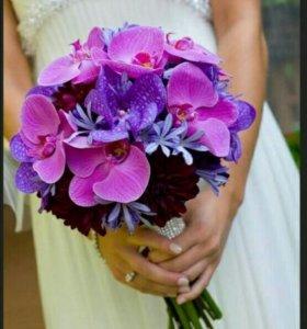 Букет невесты +бутоньерка в подарок