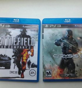 Диски на PS3 BATTLEFIELD 2, CRYSIS 2
