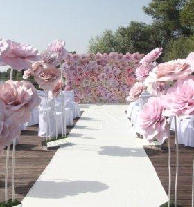 Оформление праздника,гигантские Цветы