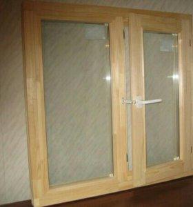 Окна Деревянные! !! Двойные 140*140